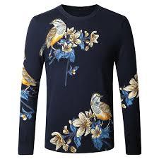 popular mens spring floral print sweater buy cheap mens spring
