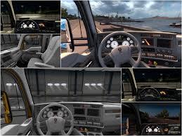new kenworth kenworth t680 white gauges interior american truck simulator