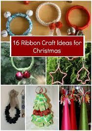 craft ribbon 16 ribbon craft ideas for christmas allfreechristmascrafts