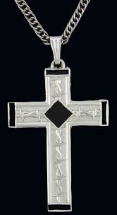 wire cross necklace