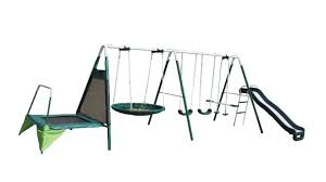 Flexible Flyer Backyard Swingin Fun Metal Swing Set Metal Swing Sets Toys