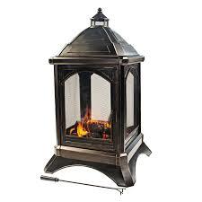 shop garden treasures steel jardin outdoor fireplace at lowes com