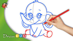 anime baby elephant from anime animals drawing tutorial youtube