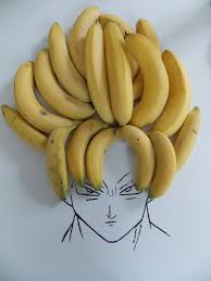 banana for hair epic pix like 9gag just banana hair goku