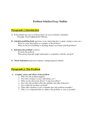 Introduction To Essay Example Problem Solution Essay Examples