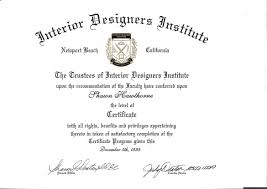 interior design degree distance learning