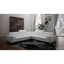 Modern White Bonded Leather Sectional Sofa Casa Metz Modern White Bonded Leather Sectional Sofa