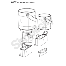 pattern 8107 bucket basket and tote organizers