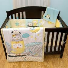 Owls Crib Bedding Naptime Owls 6 Baby Crib Bedding Set With Bumper By Babys