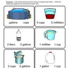 kindergarten capacity worksheets kindergarten math fall