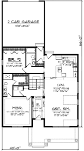 narrow lot house plans with rear garage craftsman with rear load garage 89716ah architectural designs