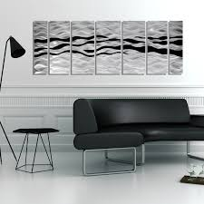 modern abstract black silver contemporary metal wall art home