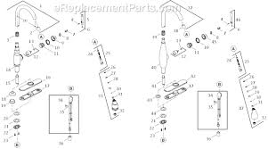 kohler vinnata kitchen faucet faucet kohler k 4m parts list and diagram ereplacementparts com