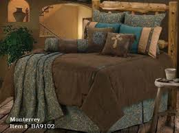 Create Your Own Comforter Western Bedding Turquoise And Beige Mosaic 5 Piece Queen Find