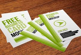 Business Card Mockup Psd Download Free Vertical Business Cards Psd Mockup