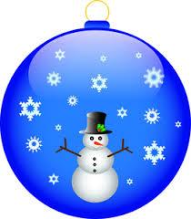 free ornament clip image snowman on a ornament