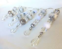 silver ornaments etsy
