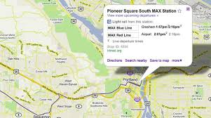 Maps Portland by Google Maps Adds Live Trimet Arrival And Departure Times