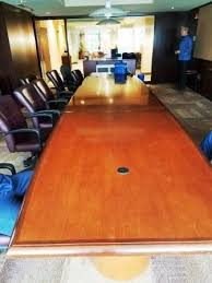 Mahogany Conference Table 18 U0027 Mahogany Conference Table With Electronics
