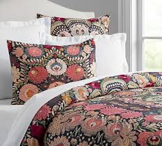 textured duvet cover pottery barn