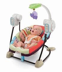 Baby Electric Swing Chair Amazon Com Fisher Price Space Saver Swing And Seat Luv U Zoo