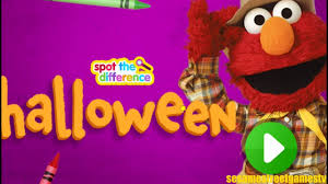 cool happy halloween pictures sesame street happy halloween spot the difference children game