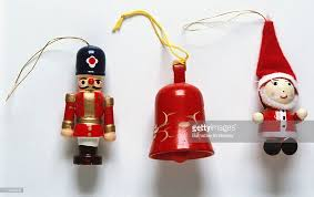 miniature bell toy soldier and santa claus christmas tree