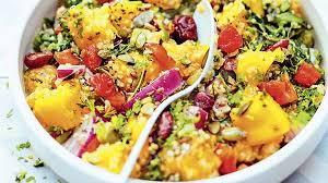 cuisiner du quinoa recette salade de mangue au quinoa et graines recettes les entrées