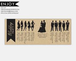 custom wedding programs for wedding program custom wedding party silhouettes
