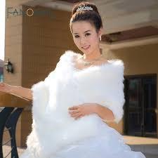 ã toles mariage vente chaude chaud faux étoles de fourrure de mariage wrap mariage