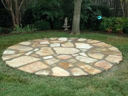 flagstone patio gray sisson landscapes great falls va round
