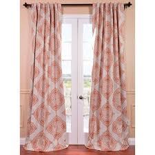 henna orange 50 x 96 inch blackout curtain half ds dry sets window treatment