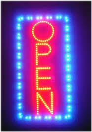 open vertical led light animated neon sign 19 10 by fastvibes