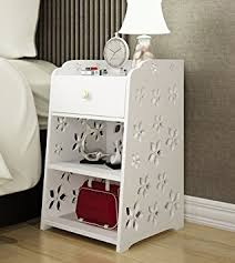small storage table for bathroom amazon com mybestfurn small size slim engraving white nightstand