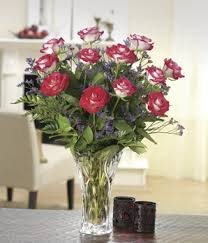 Lenox Vase With Rose Beautiful Bicolor Dozen Roses At From You Flowers