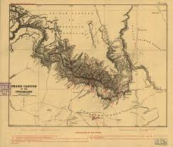 Grand Canyon Maps Map Of The Grand Canyon From 1900 Map Grandcanyon Interesting