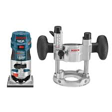bosch router table lowes shop bosch colt 1 hp variable speed combo fixed plunge corded router
