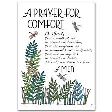 a prayer for comfort praying for you card sympathy