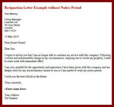 18 resignation letter without one month notice sendletters info
