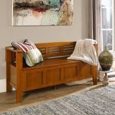 Wood Storage Benches Pine Storage Benches Foter