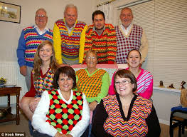 the globe knits family bright coloured sweaters