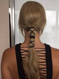 cool hair accessories give a classic ponytail some edge with a leather wrap girly and