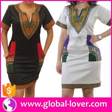 modern ladies dashiki african print fashion kitenge dress