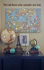 Pirate Themed Home Decor by Best 25 Map Themed Room Ideas On Pinterest Travel Wall Travel