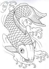 koi fish drawing u2026 pinteres u2026