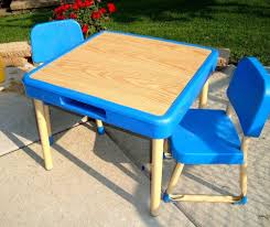 fisher price table chairs vintage fisher price arts and crafts table and chairs set child size