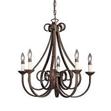 kichler lighting dover 25 5 in 5 light tannery bronze country