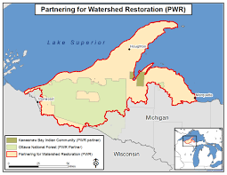 Michigan Indian Tribes Map by Partnering For Watershed Restoration Pwr Superior Watershed