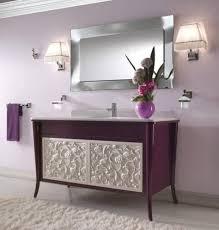 bathroom furniture double trough sinks cream beige small simple
