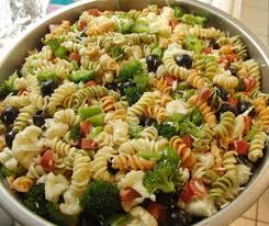 garden pasta salad recipe with rotini